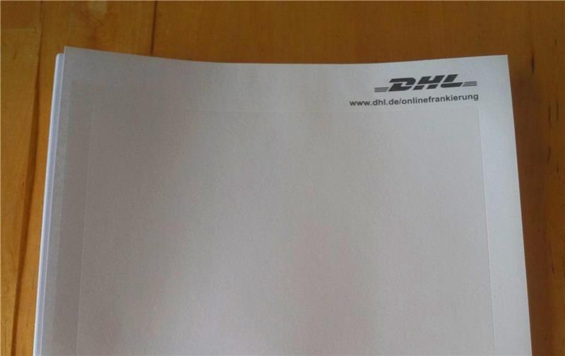 10-2400 St. Paketschein Aufkleber DHL Online Frankierung