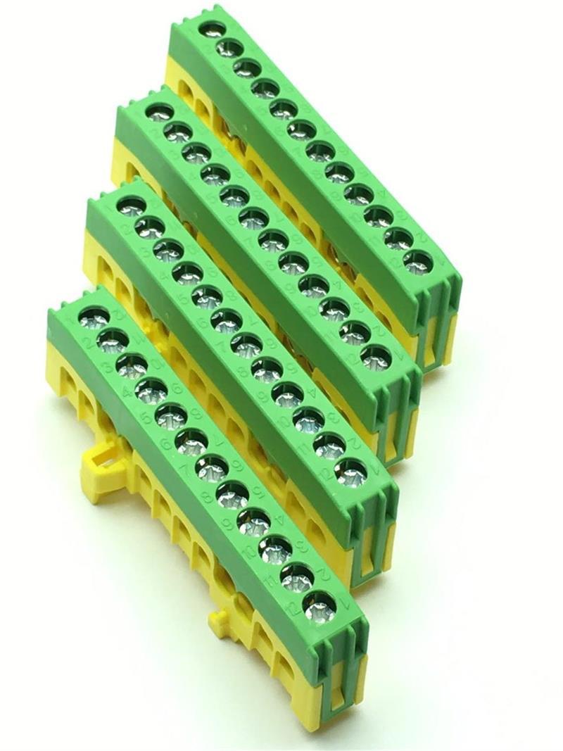 Schutzleiterklemme gr/ün  12-polig x16