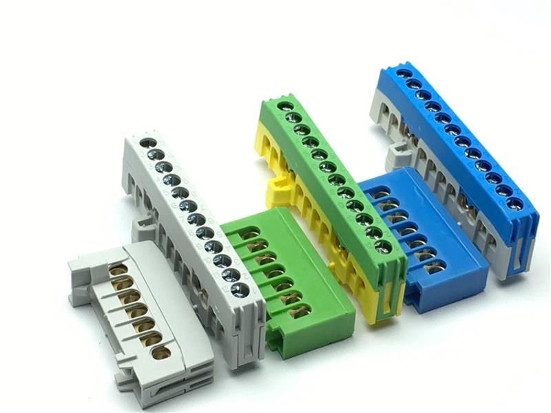 PE und N Leiterklemmen Null und Schutzleiter Klemmen