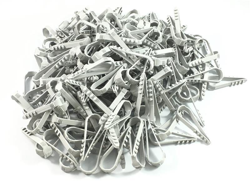 200 Stück Stecklasche Spannbereich 6-20 mm Schlaufendübel Dübelklemmschelle